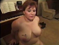 Sexy Big Boobed Woman Takes On Two Guys