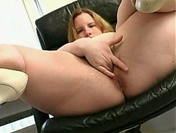 Horny Fat BBW Friend playing with her Wet Hairy Pussy