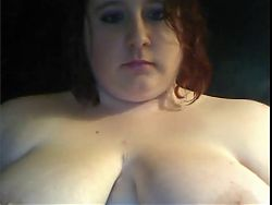 BBW Teen With Big Natural Tits Smokes on Cam