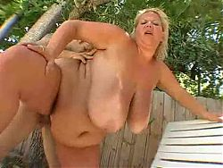 BBW MILF Torpedoed Outdoors