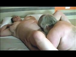 Big chub Daddy fucks his BBW and friend joins in straight