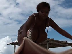 BBW Giant Ebony Tits Poolboy Massage