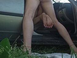 Stranger fucked dogging wife from behind