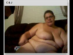 Chatroulette BBW & husband blowjob fuck and creampie