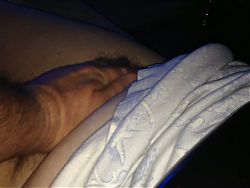stroking the wifes hairy pussy & belly early in morning