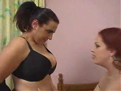 Curvy lesbians playing
