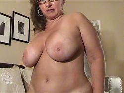 very attractive milf with glasses