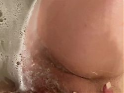 Grandma washing up after getting fucked by 5 guys